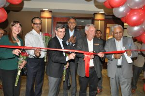 Tech Mahindra ribbon cutting